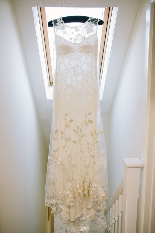 Claire Pettibone Whitney Bridal Gown | DIY Country Wedding at Warborne Farm, Lymington | Camilla Arnhold Photography