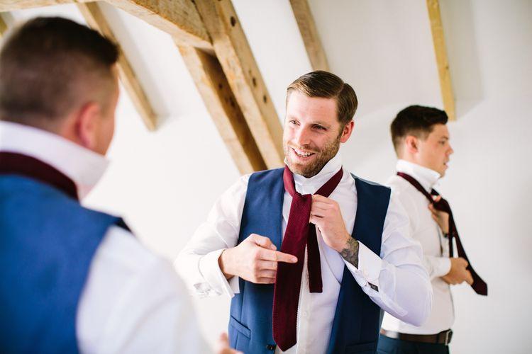 Groomsmen Wedding Morning Preparations | DIY Country Wedding at Warborne Farm, Lymington | Camilla Arnhold Photography