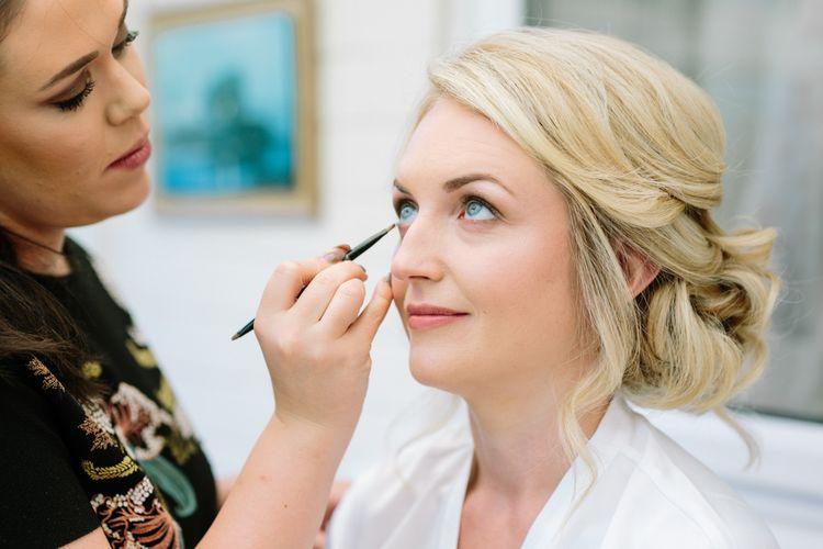 Bridal Makeup | DIY Country Wedding at Warborne Farm, Lymington | Camilla Arnhold Photography