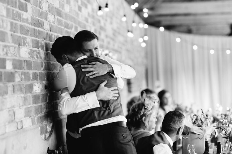 Wedding Reception Speeches | DIY Country Wedding at Warborne Farm, Lymington | Camilla Arnhold Photography