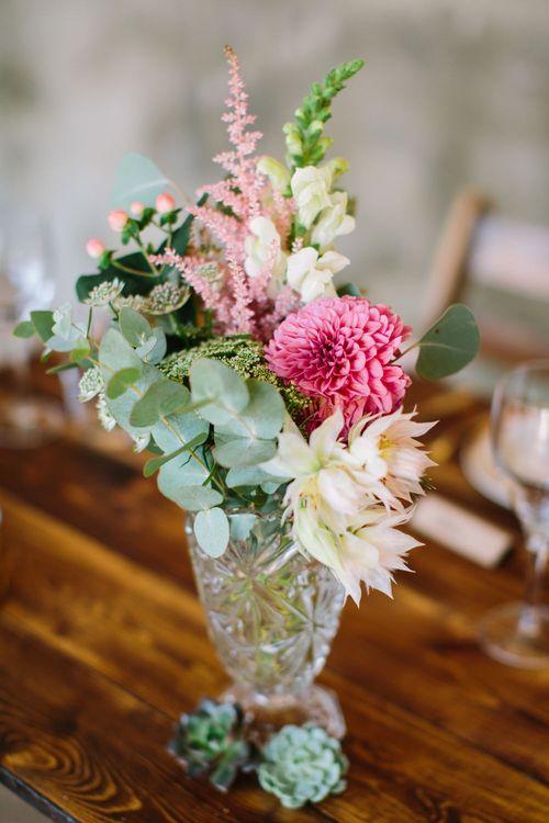 Flower Stems in Vases | DIY Country Wedding at Warborne Farm, Lymington | Camilla Arnhold Photography
