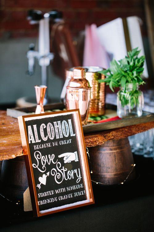 Bar Wedding Sign | DIY Country Wedding at Warborne Farm, Lymington | Camilla Arnhold Photography