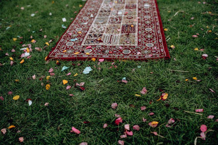 Moroccan Rug Covered in Bright Confetti