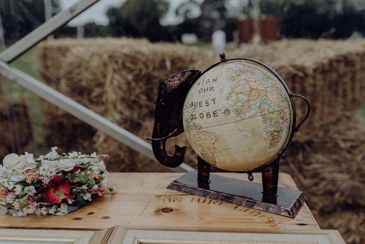 DIY Alternative Globe Guest Book