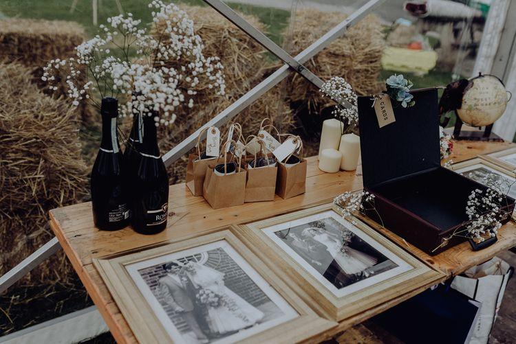 Wedding Decor of Family Portraits