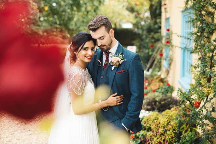 Autumn Wedding With Red Flowers