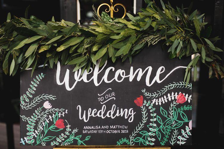 Chalkboard Welcome Wedding Sign