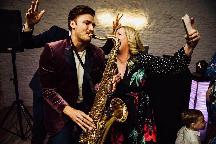 Wedding entertainment saxophonist