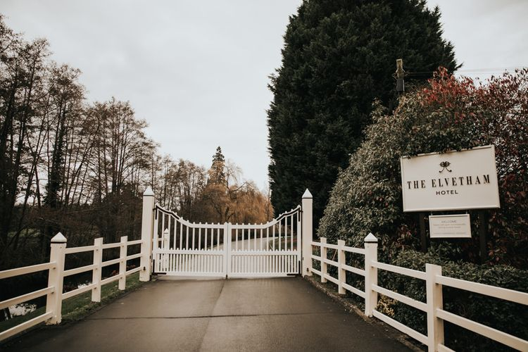 Winter celebration at The Elvetham wedding venue in Hampshire
