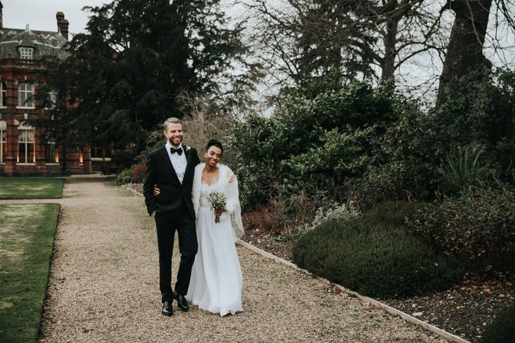 Winter wedding at The Elvetham country house in Hampshire
