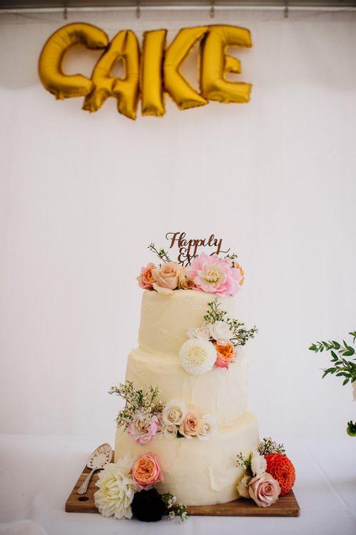 Gold Foil CAKE Balloon Wedding Decor