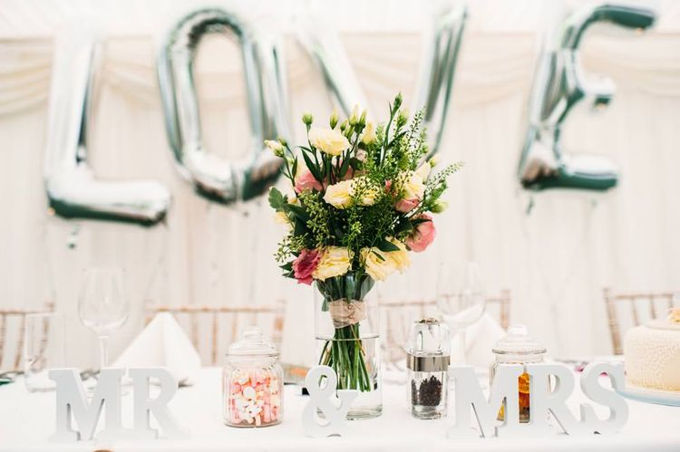 Giant Silver Foil LOVE Letters Balloons