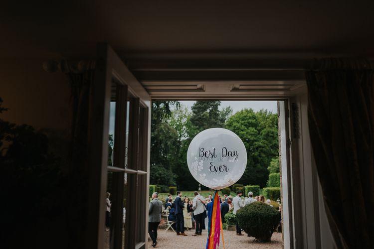 Best Day Ever Slogan Wedding Balloon