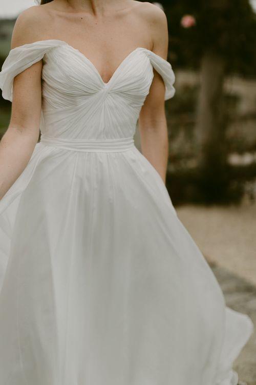 Ursula Dress by Naomi Neoh //  Bardot Neckline Wedding Dresses