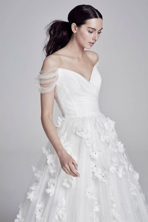 Juliette by Suzanne Neville // Bardot Neckline Wedding Dress