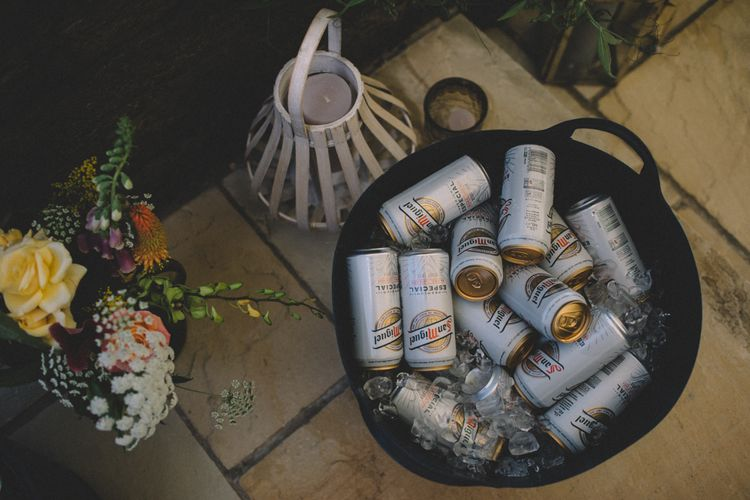 Beer In Bucket For At Home Wedding // Image By Carrie Lavers Photography