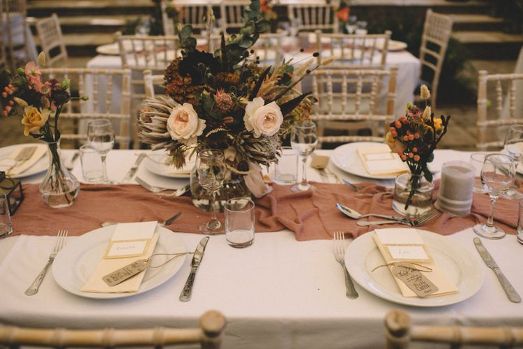 Simple Place Setting For Wedding // Image By Carrie Lavers Photography