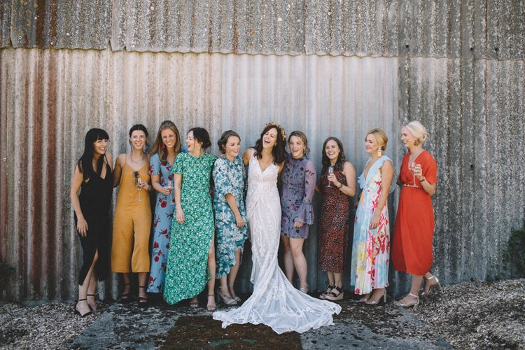 Bride & Best Friends At Wedding // Image By Carrie Lavers Photography