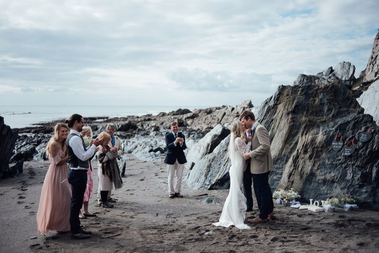 Devon elopement with nine people