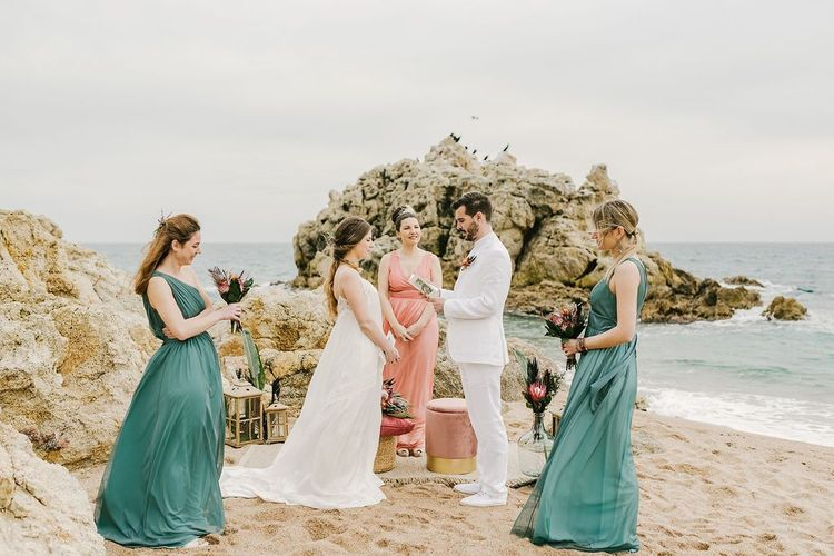 Intimate beach weddings elopement