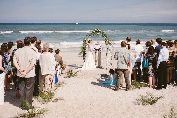California beach wedding ceremony