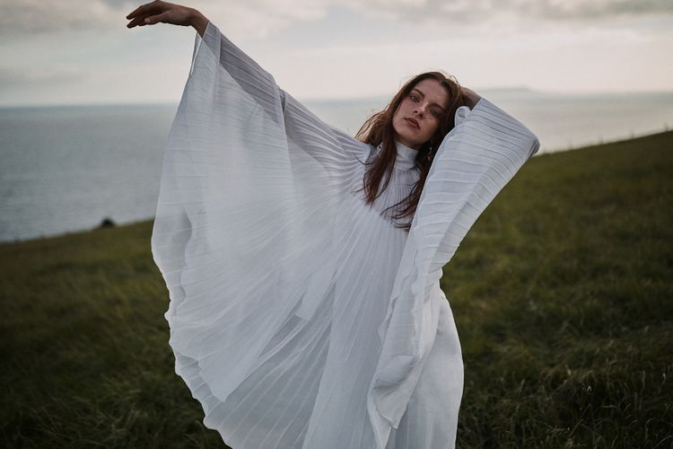 Pleated Cape For Brides Styled By Beatnik Bride With Images From Benjamin Wheeler Photography