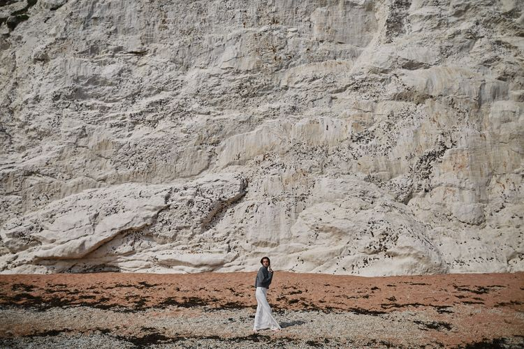 Bridal Slip Dress With Grey Knit Jumper Styled By Beatnik Bride With Images From Benjamin Wheeler Photography