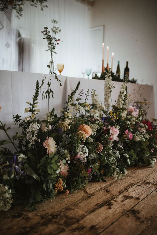 Floral Installation For Top Table // James Frost Photography