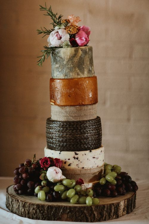 Wedding Cheese Tower // James Frost Photography // DIY Village Hall Wedding Lilley