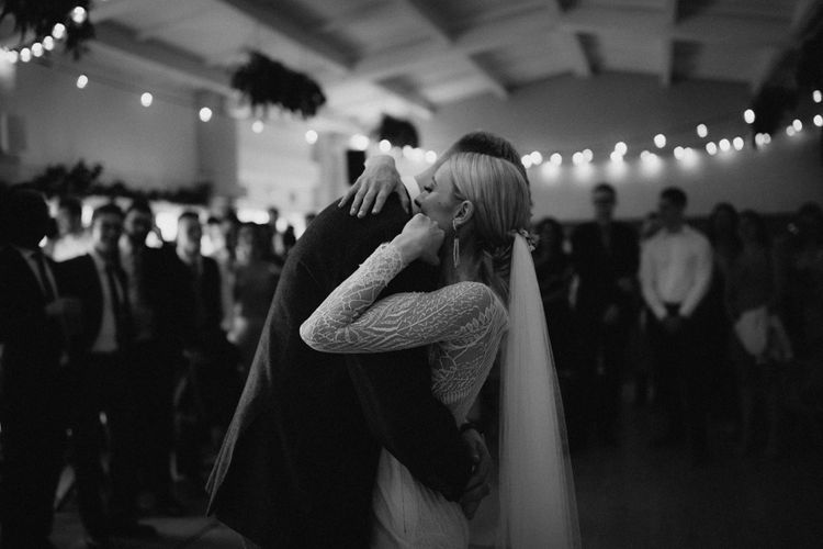 First Dance // Anna Kara Bridal // James Frost Photography // DIY Village Hall Wedding Lilley // C of E Wedding Ceremony // Vinyl Record Wedding Favours