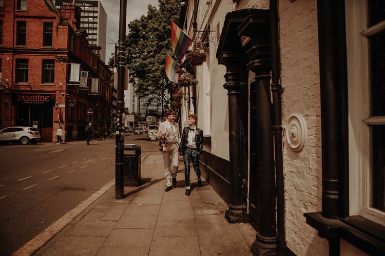 Gay couple at Manchester elopement