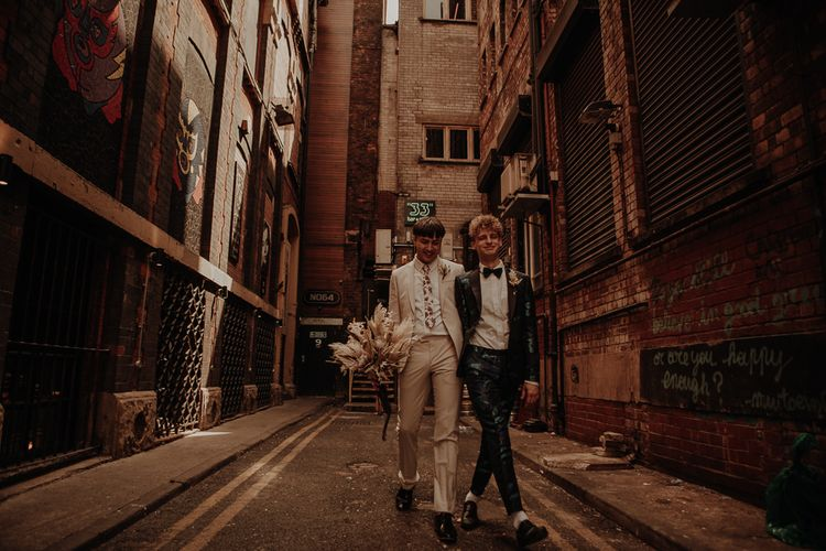 Urban wedding photography at Manchester elopement
