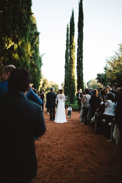 Outdoor Wedding Ceremony for a Barcelona Wedding