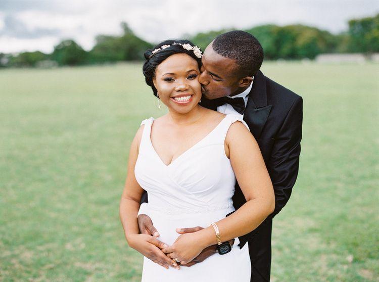 Black bride at Africa wedding
