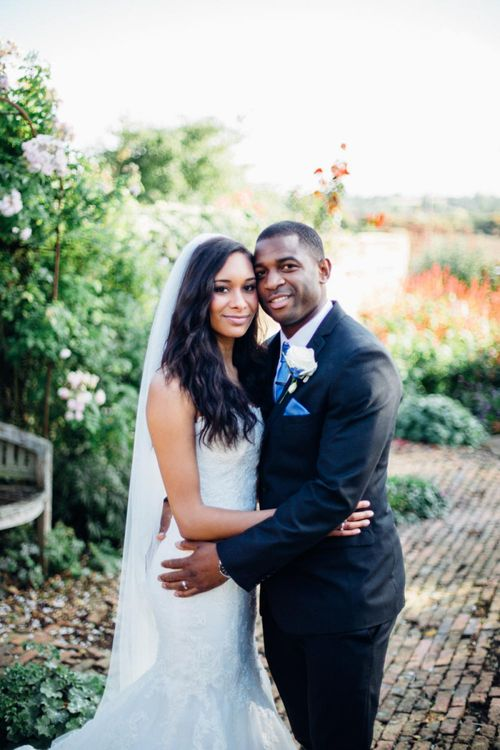 Black bride and groom at classic Crockwell Farm wedding