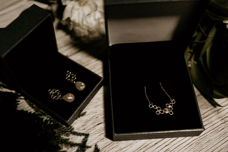 Matching Earrings and Necklace Set