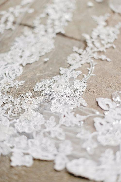 Delicate Lace Wedding Dress | Blush Pink, Romantic, Country Wedding Inspiration at Tithe Barn, Dorset | Darima Frampton Photography