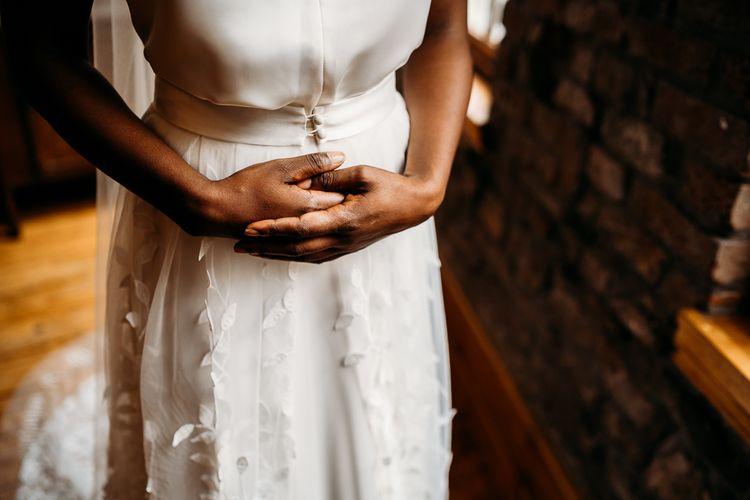 Halfpenny London 'Cheryl' wedding dress with detachable skirt 'Beale'