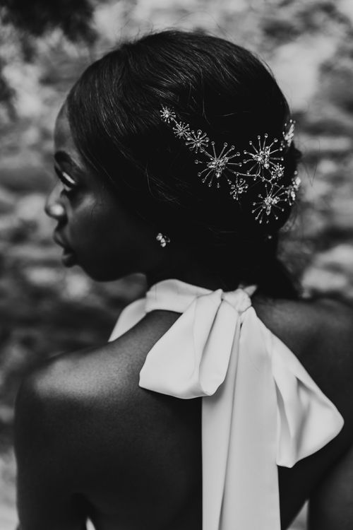 Jewel encrusted wedding hair accessories by Hermione Harbutt
