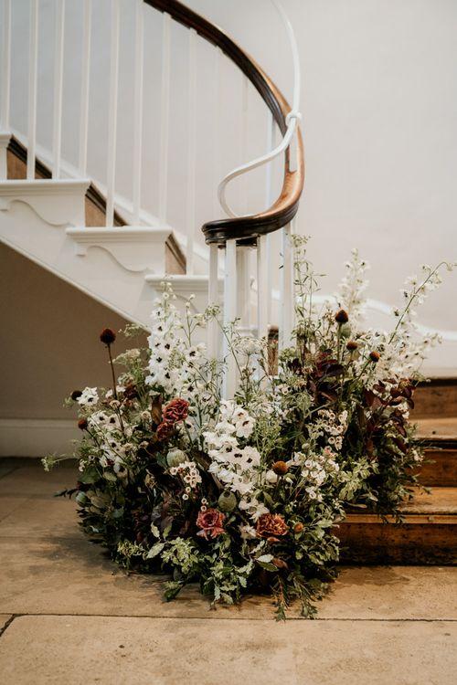 Wildflower staircase decor