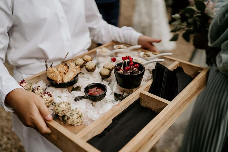 Wedding canapés by Galloping Gourmet catering