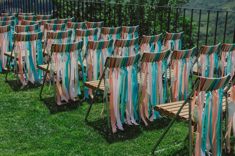 Ceremony Chair Back Ribbons Decor