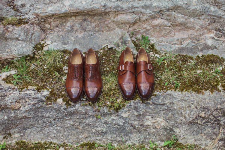 Grooms Brown Brogues and Monk Wedding Shoes
