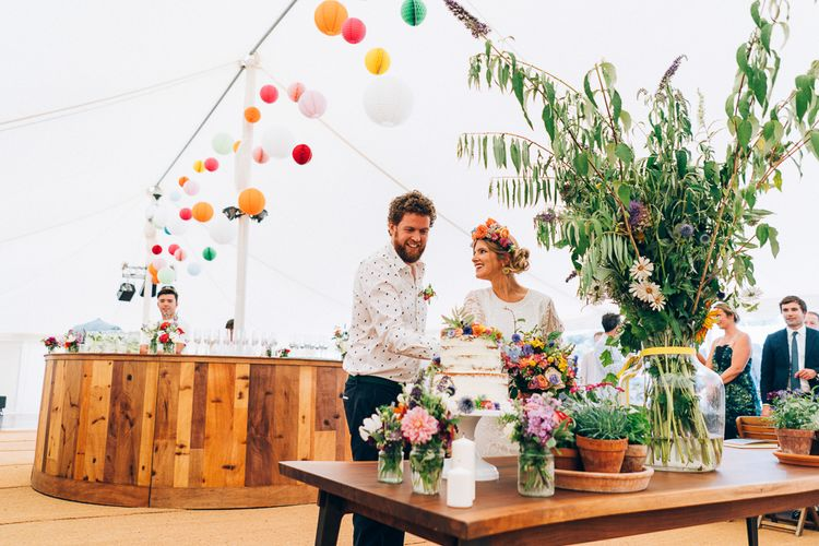 Wildflower Wedding With Naked Cake // Images By Casey Avenue Photography