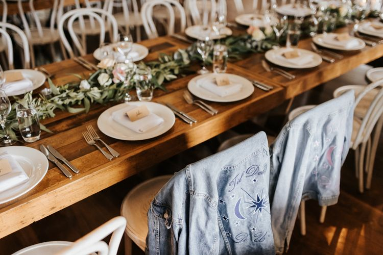 Place Settings with Craft Paper Name Tags