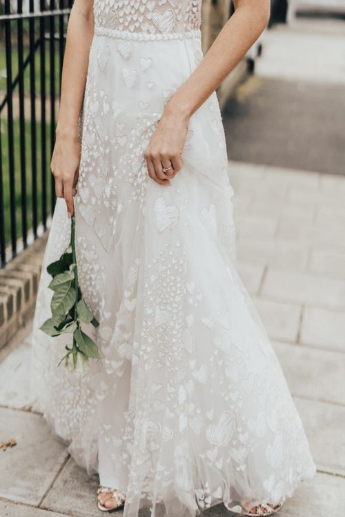 Heart Embroidered Wedding Dress From Morgan Davies
