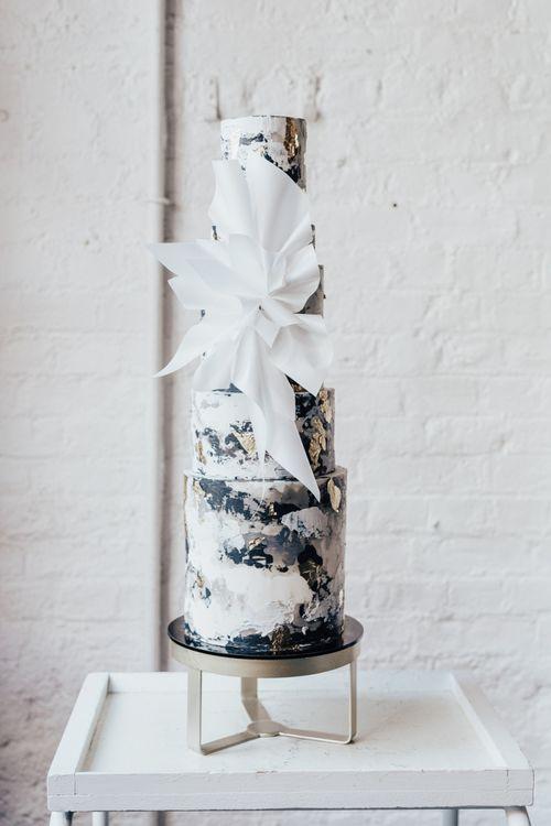 Tall Malarkey Cakes Design with Splash Paint Effect