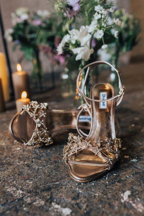 Gold Dune Wedding Shoes