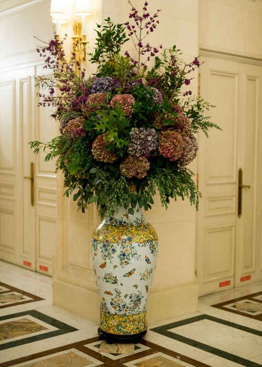 Giant Floral Arrangement with Hydrangea Heads