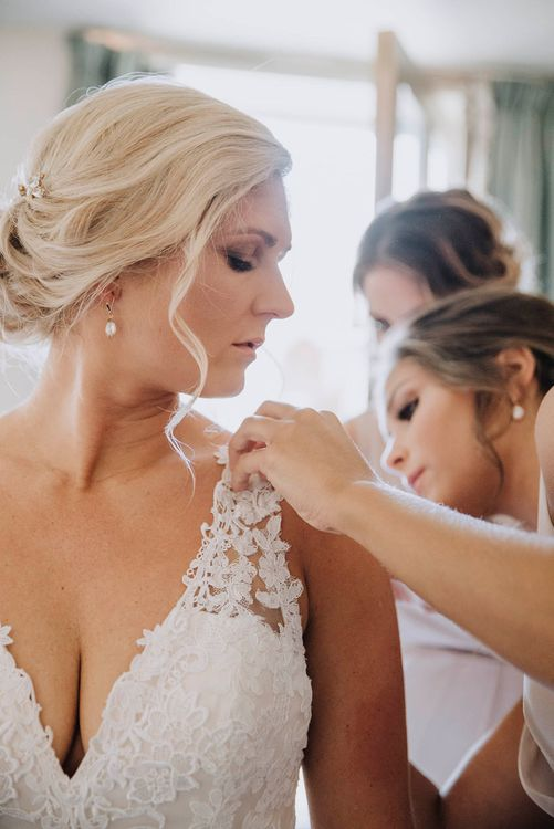 Wedding Morning Bridal Preparations   Lace Mori Lee Bridal Gown   Wedding Weekend at West Lexham Manor, Norfolk   Megan Duffield Photography